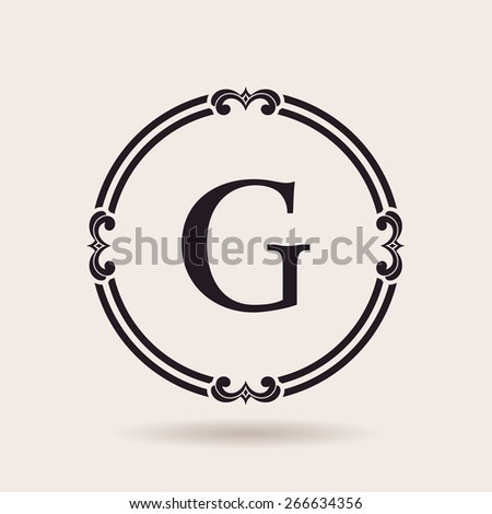 Vector frames design emblems. Vintage labels and badges for logos quality - stock vector