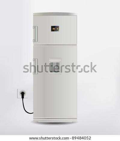 Vector Freezer - stock vector
