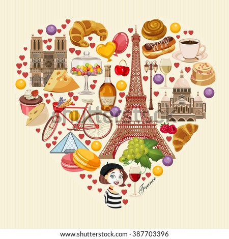 French culture stock images royalty free images vectors for Poster deco cuisine