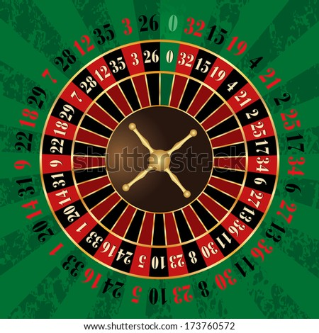 vector french roulette wheel - stock vector