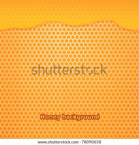 Vector fresh honey background - stock vector