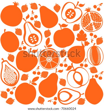 Vector fruit background