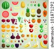 Vector fruits collection, graphic designer's friend edition - stock photo