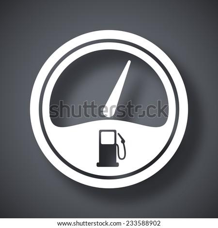 Vector fuel gauge icon - stock vector