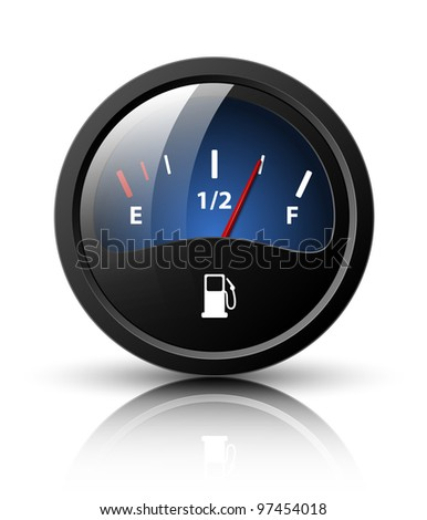 Vector fuel gauge icon - stock vector