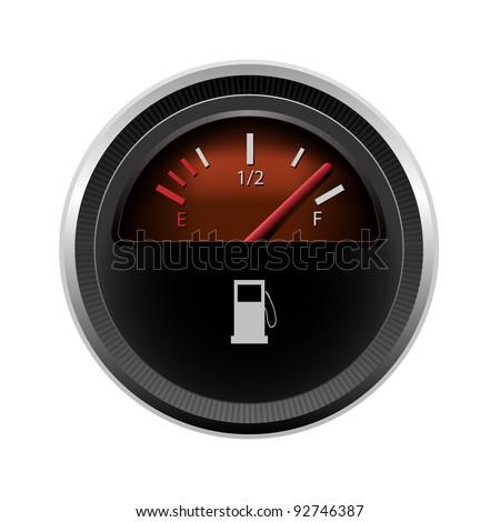 Vector fuel level - stock vector