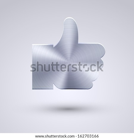 Vector full metal icon on blue background. Eps10 - stock vector