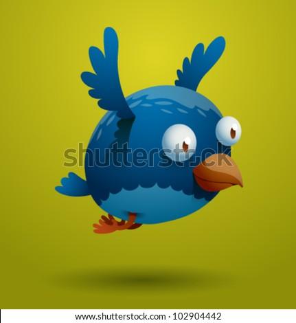 vector funny bird 8 - stock vector