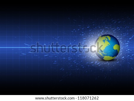 vector future global telecom technology background