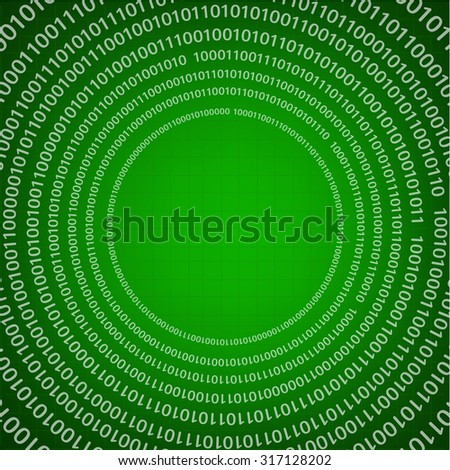 vector futuristic background with digital binary code