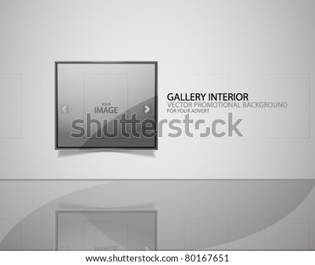 Vector gallery frame web promotional background - stock vector