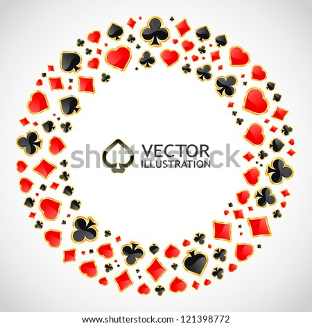 Vector gambling composition. Abstract illustration. - stock vector