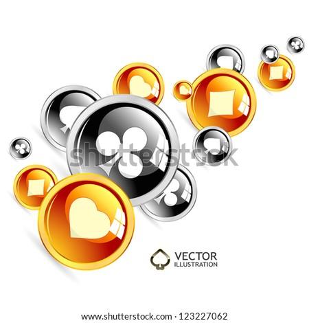 Vector gambling composition. Abstract illustration. - stock vector