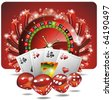 Vector gambling illustration with casino elements - stock photo