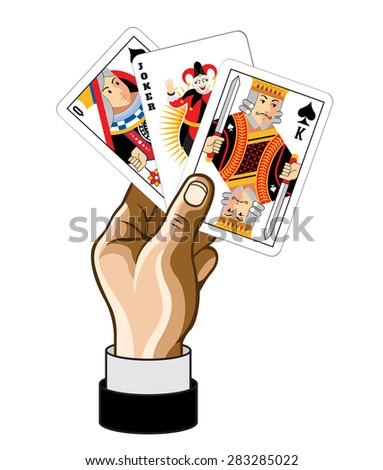 Vector game card illustration - stock vector