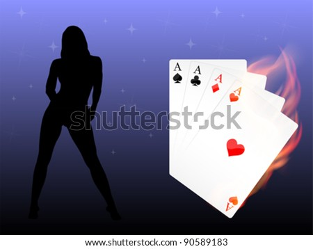 Vector Game Cards - stock vector