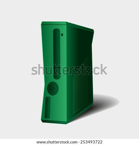 Vector game console in eps, computer case, system unit - stock vector