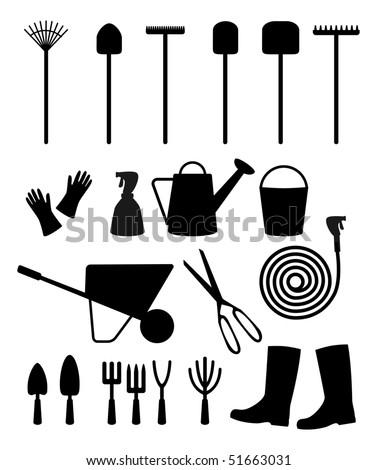 Vector garden tools - stock vector