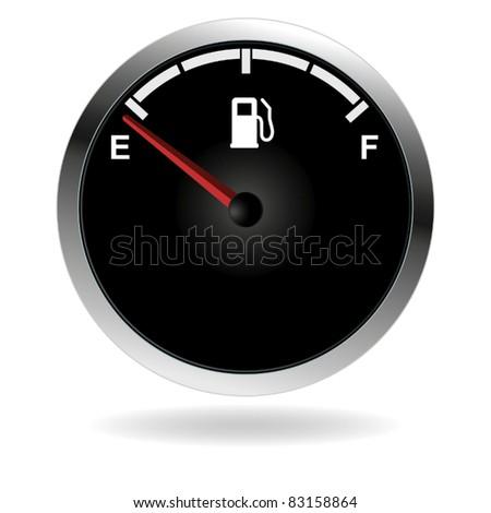 Vector gas gauge. - stock vector