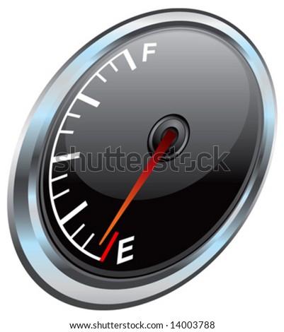 Vector gas gauge illustration - stock vector