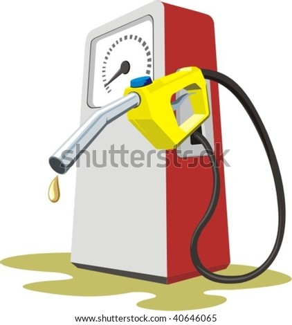 vector gas station pump - stock vector