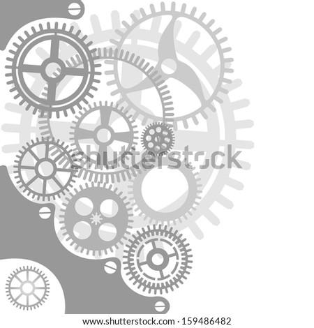 vector gear and cogwheel background - stock vector