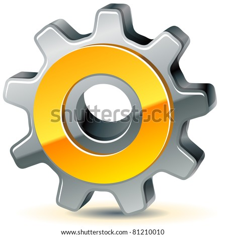 vector gear as preferences icon, 10 eps - stock vector