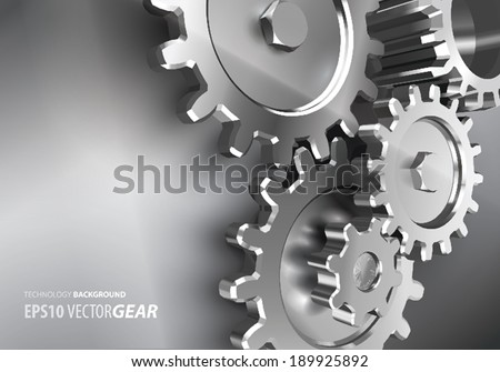 VECTOR GEAR BACKGROUND - stock vector