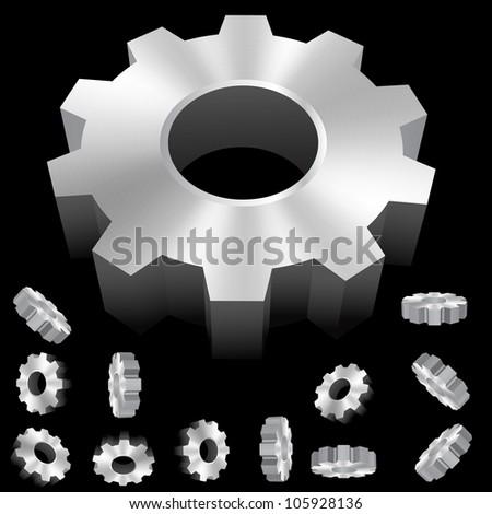 vector gear collection - stock vector