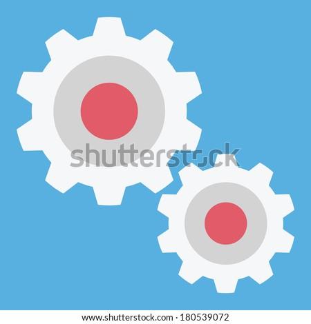 Vector Gears Icon - stock vector