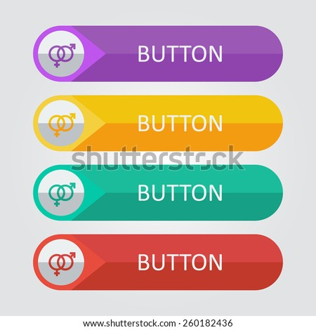 Vector gender buttons. File format eps 10 - stock vector