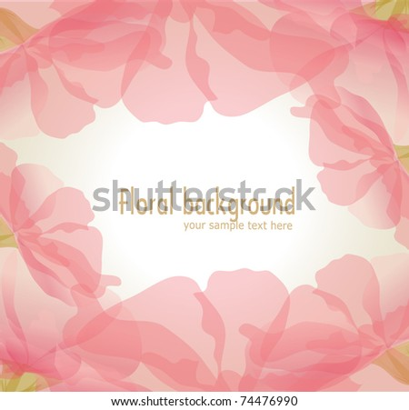 Vector gentle background of pink flower petals