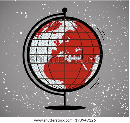 Vector geographic globe.Vector illustration.Earth globe. - stock vector