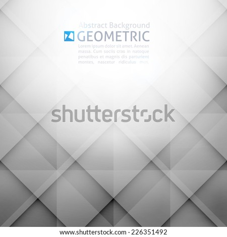 vector geometric abstract background with rhombus shapes - stock vector