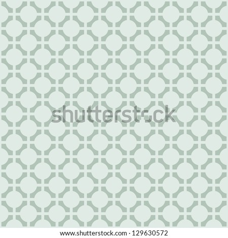 Vector geometric abstract pattern - green color halftone seamless simple modern texture - stock vector