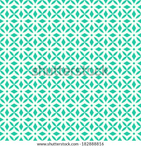 vector geometric ancient seamless background. antique seamless pattern turquoise and white. - stock vector