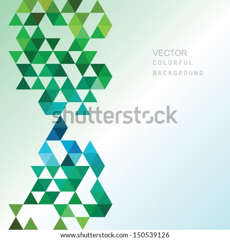 vector geometric background - stock vector