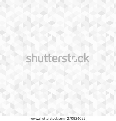 Vector geometric background - seamless. White and gray texture - stock vector