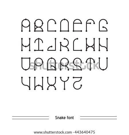 Vector Geometric Font Simple Alphabet Modern Stock 443640475
