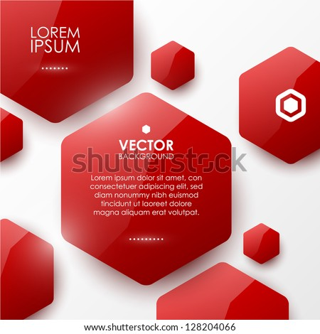 Vector geometric glossy background - stock vector
