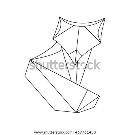 Vector Geometric Origami Fox