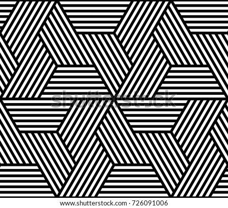 Vector geometric pattern. Seamless braided linear pattern.