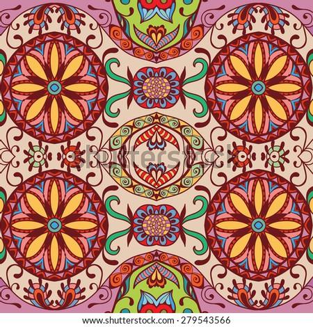Colorful Vintage Spanish Style Ceramic Tiles Stock Photo