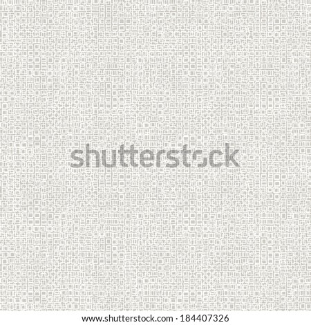 Vector geometric pattern with small hand drawn squares placed in rows in hipster style in grey and white colors - stock vector