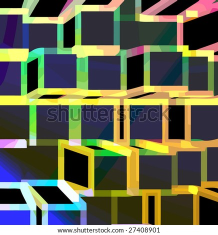 vector - geometric perspective - stock vector