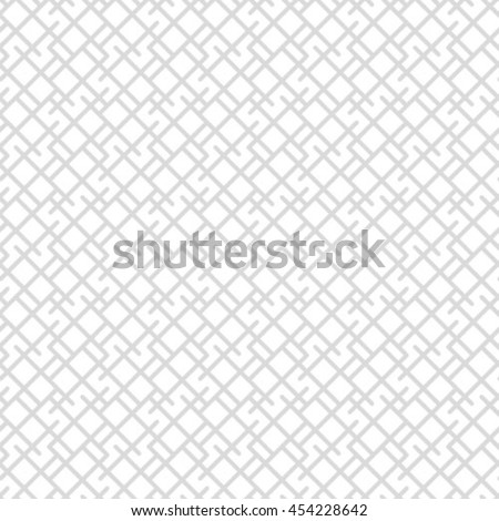 Vector geometric seamless pattern. Repeating abstract stripes in gray and white. - stock vector
