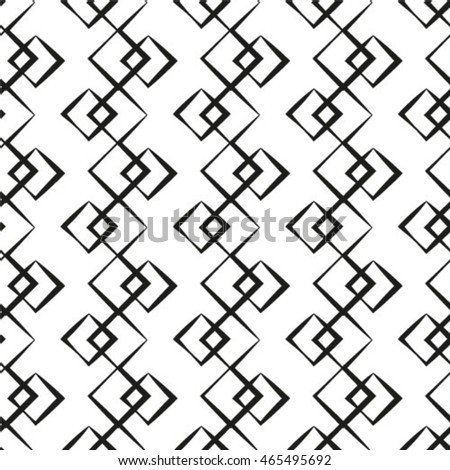 Vector geometric seamless pattern. Repeating abstract texture in black and white.