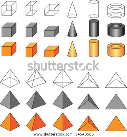 Vector geometric shapes - stock vector