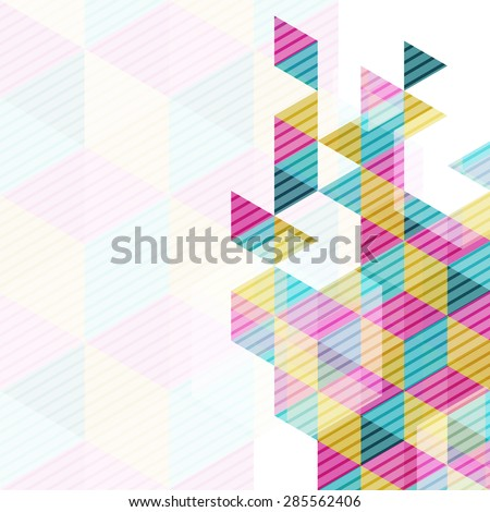 vector geometry triangle, abstract polygon background - stock vector