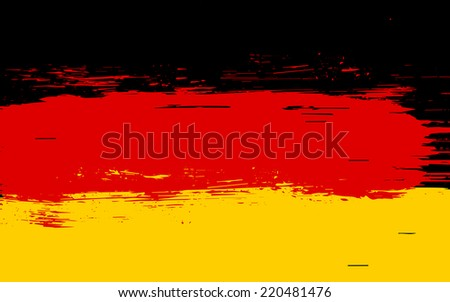 Vector German flag in grunge damaged style - stock vector